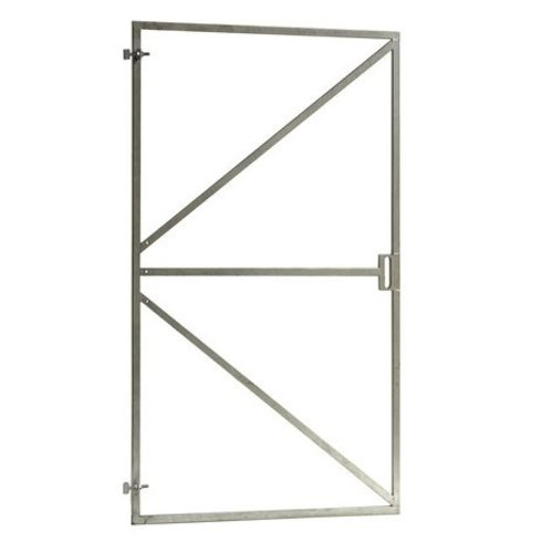Stalen poortframe met slotkast uitsparing - B100 x H180 cm - incl. 3 verstelbare ogen