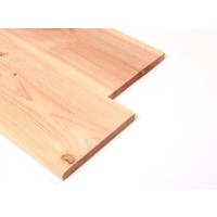 Lariks Douglas plank / Boeiplank  2,5 x 25 x 400 cm