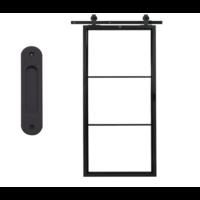 Stalen schuifdeur - 3 vaks - 95,7 x 209,5 cm