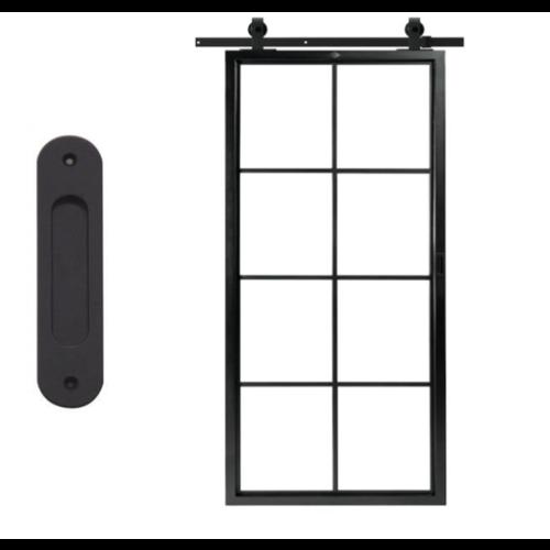 Stalen schuifdeur - 8 vaks - 95,7 x 209,5 cm