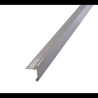 Aluminium Daktrim 4,5 x 4,5 cm - lengte 250 cm incl. koppelplaatje