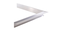 Aluminium Daktrim binnenhoek 50 x 50 /  4,5 x 4,5 cm - incl. koppelplaatje