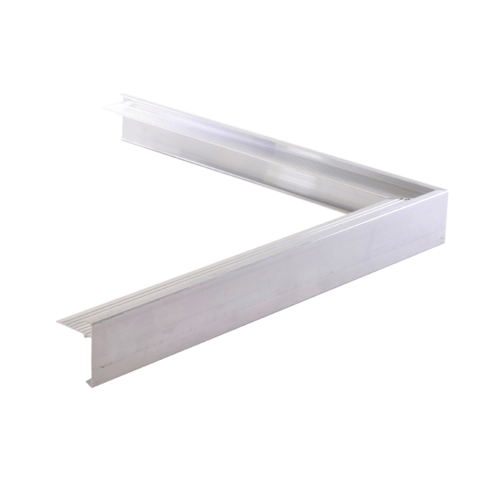 Aluminium Daktrim buitenhoek 50 x 50 /  4,5 x 4,5 cm - incl. koppelplaatje