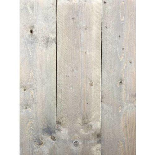 Gebruikte steigerhout steigerplank - Old Grey Look - ca. 3 x 20 x 400 cm