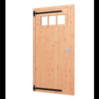 Enkele opgeklampte  Douglas deur met bovenraam - B101,5 x H202 cm