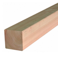 Douglas paal gedroogd & geschaafd 11,5 x 11,5 cm