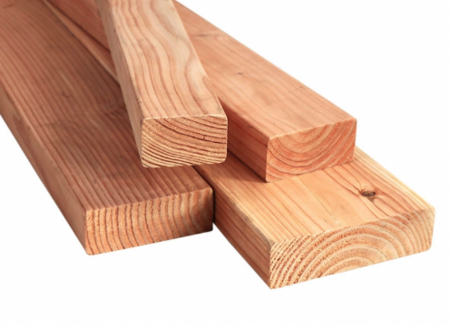 Geschaafd Douglas hout