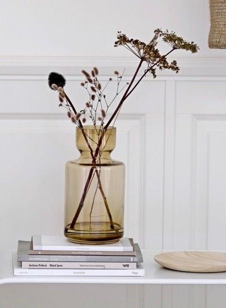 bloomingville vase brown