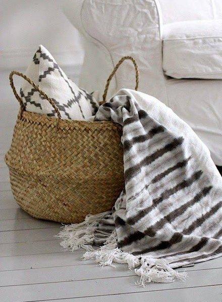 bloomingville basket seagrasss