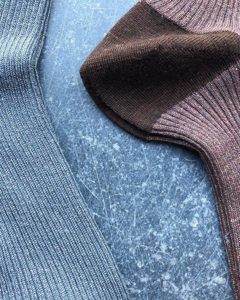 Maria La Rosa lurex sock