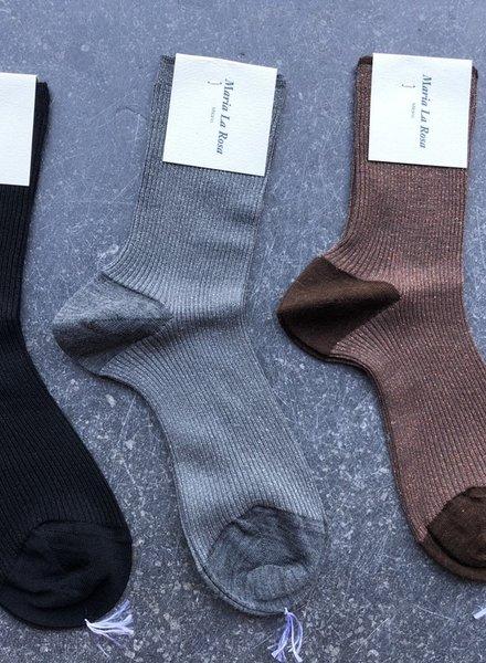 Maria La Rosa lurex-sock