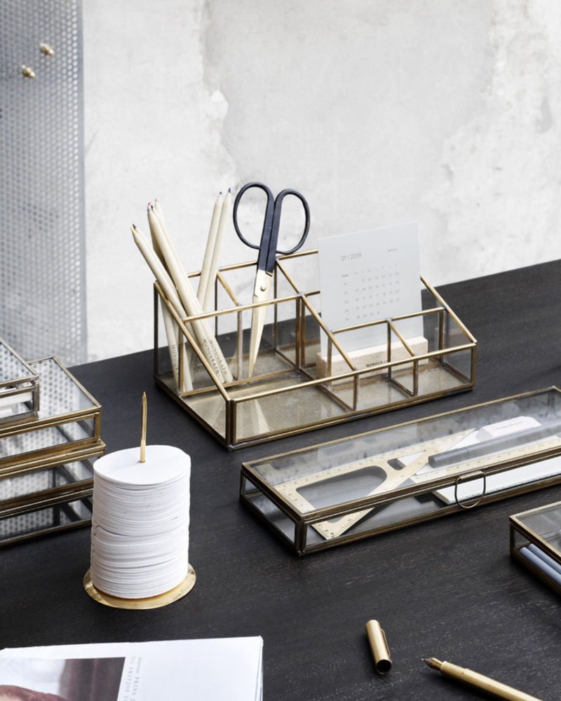 Monograph storage brass