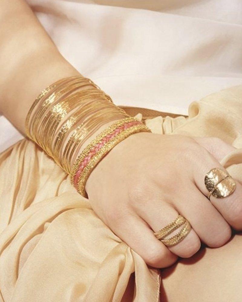 BDM Studio orient cuff bra gold