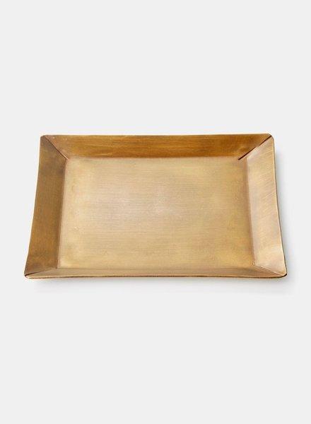 Fog linen brass plate rect