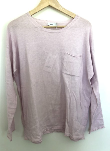 Closed knit pink size s