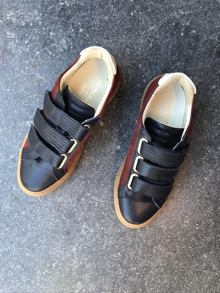 sneakers blauw/rood-1