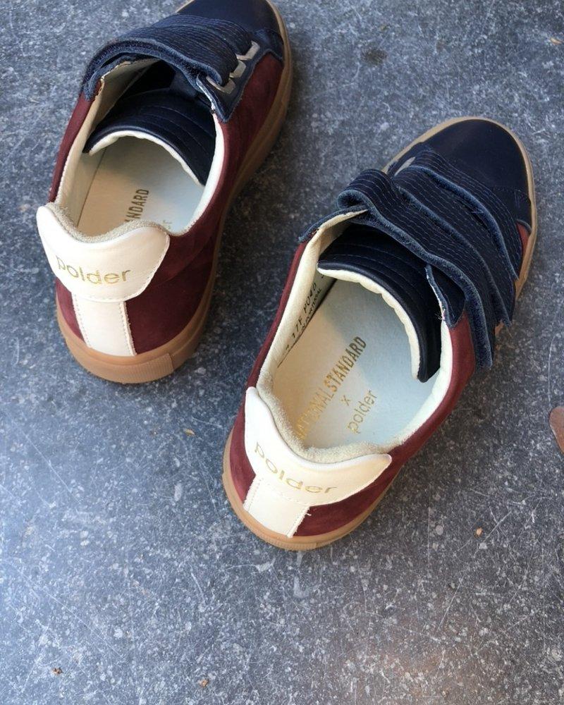 Polder sneakers blauw/rood