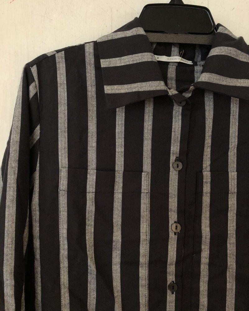 Sunday in bed paula pjama vest streep