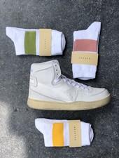 Escuyer white melange band socks