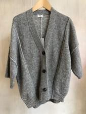 Closed knit gilet light grey