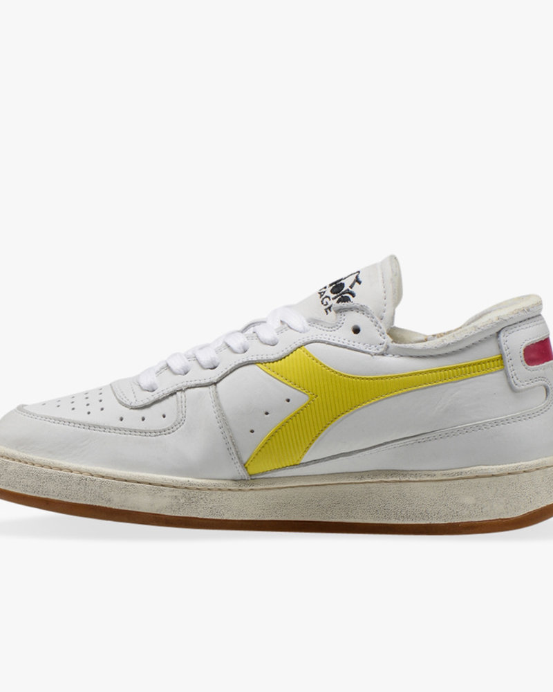 Diadora row cut white/yellow