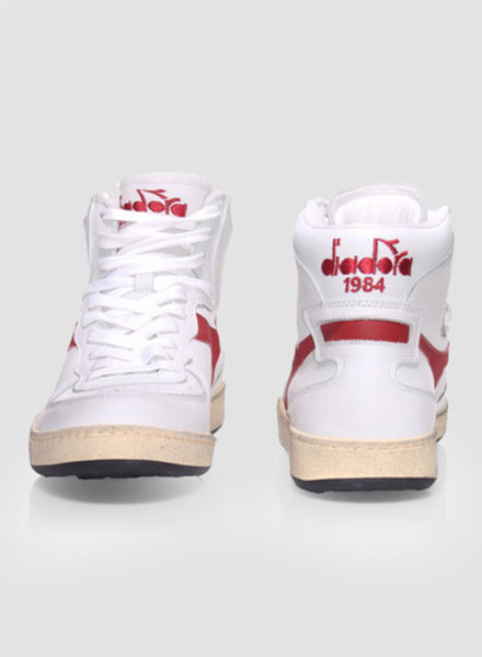 Diadora mi basket used white/garnet
