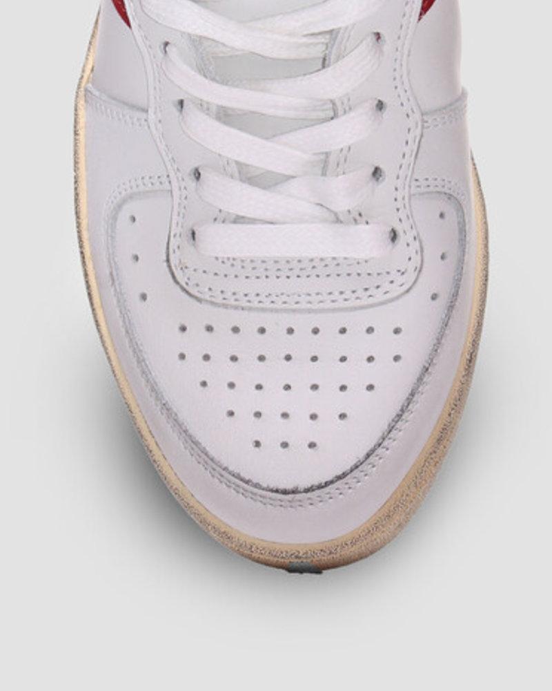 Diadora mi basket used white/garnet