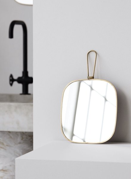 mirror antique brass