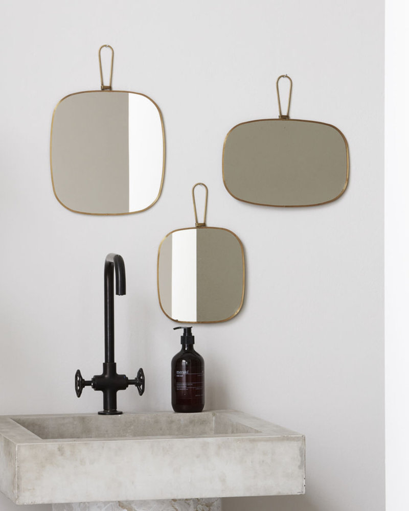 mirror antique brass