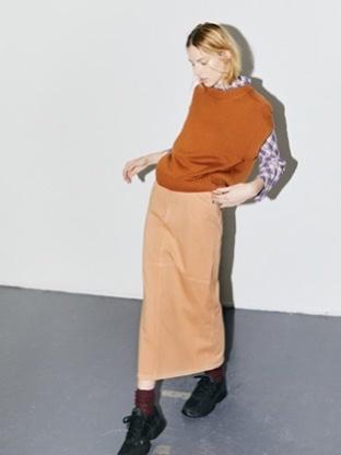 n°405 skirt long zand-1