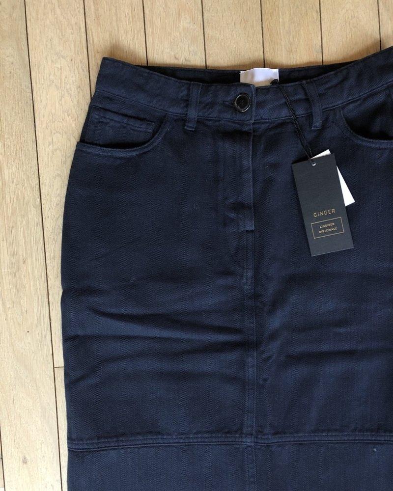 Ginger n°405 skirt long black blue
