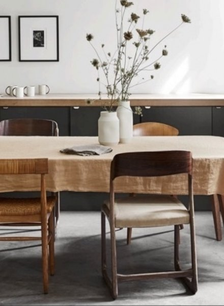 Linge particulier table coth peach