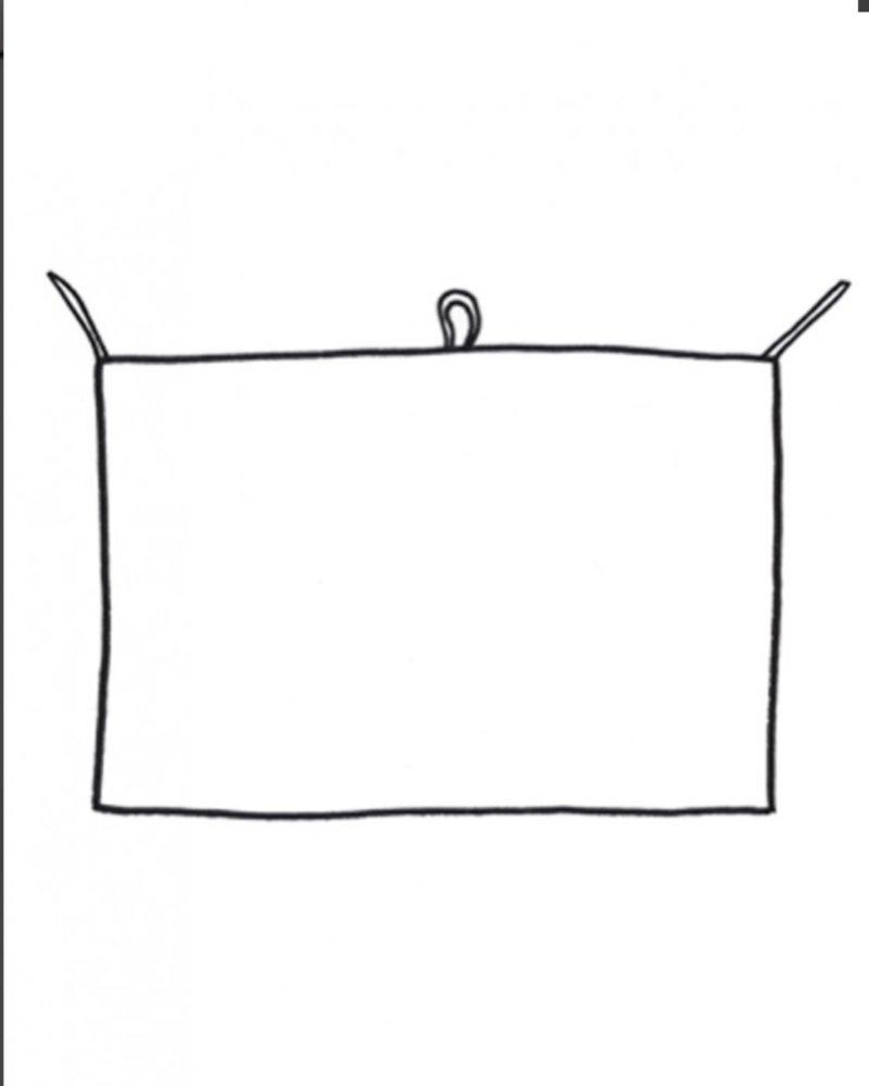 Linge particulier towel green squares