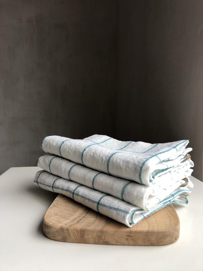 towel green squares-1
