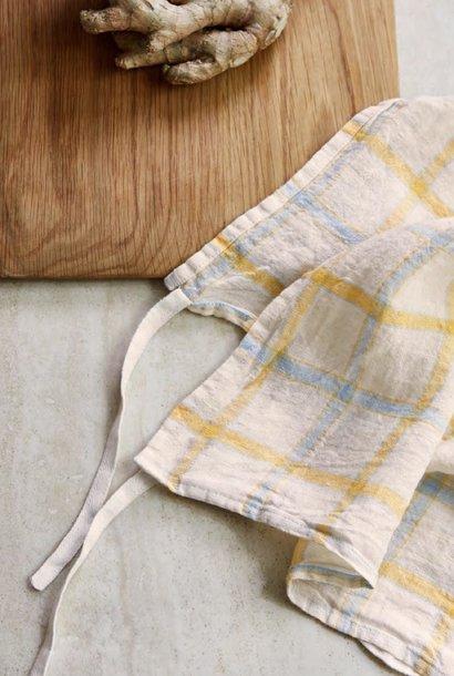 towel yellow  squares