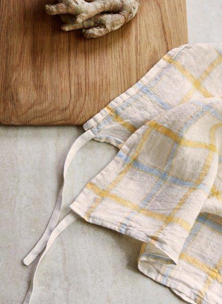 Linge particulier towel yellow  squares