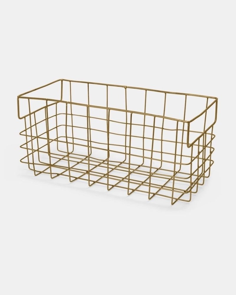 Fog linen wire basket large