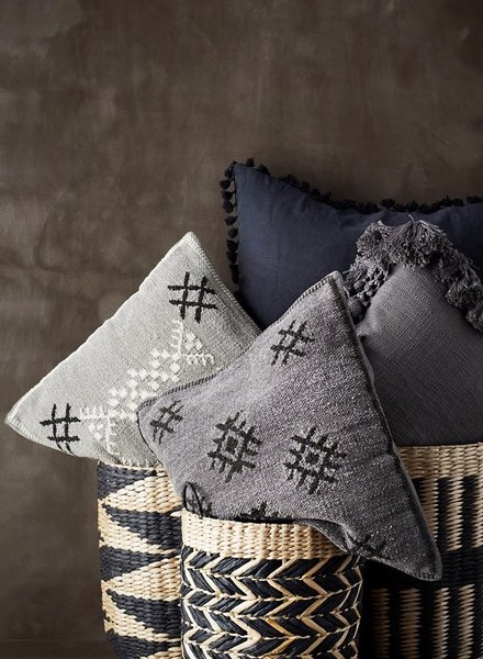 Madam Stoltz chenille cushion