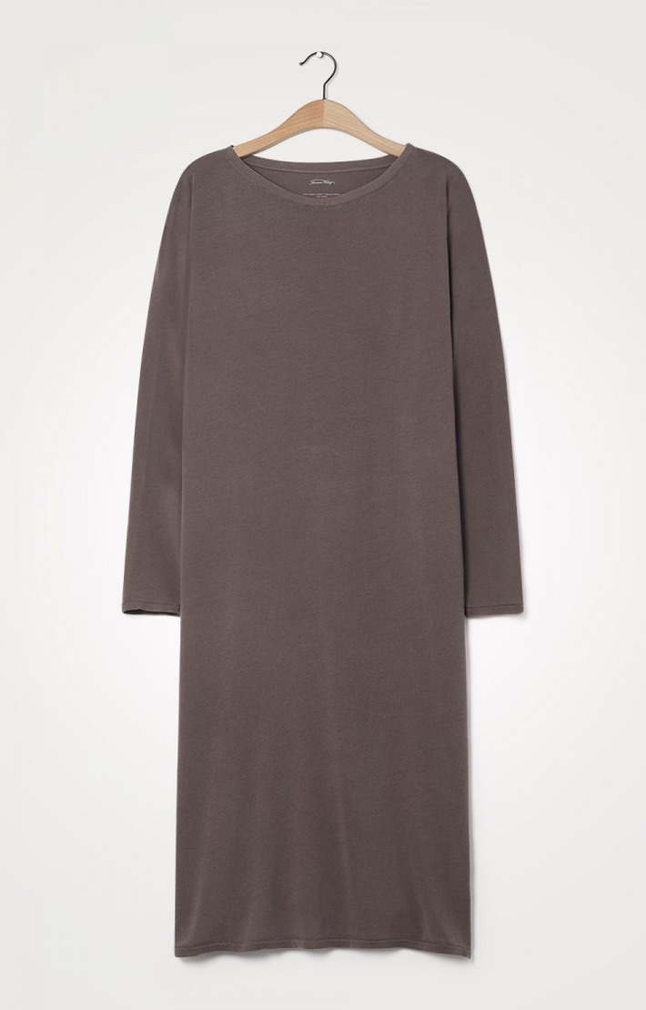 t-shirt dress cacao-2