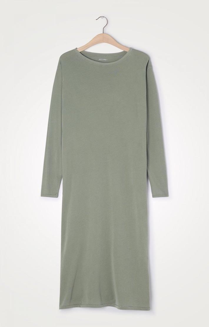 t-shirt dress olive-2