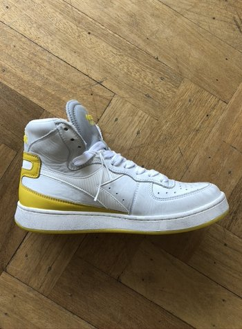 Diadora mi basket used white/empire yellow
