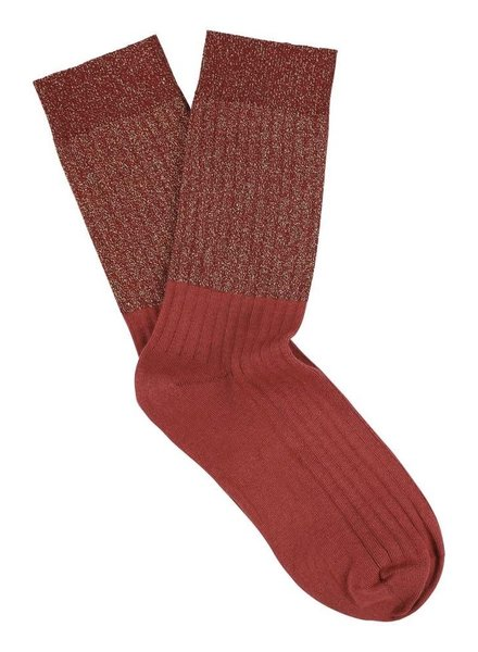 Escuyer lurex block socks