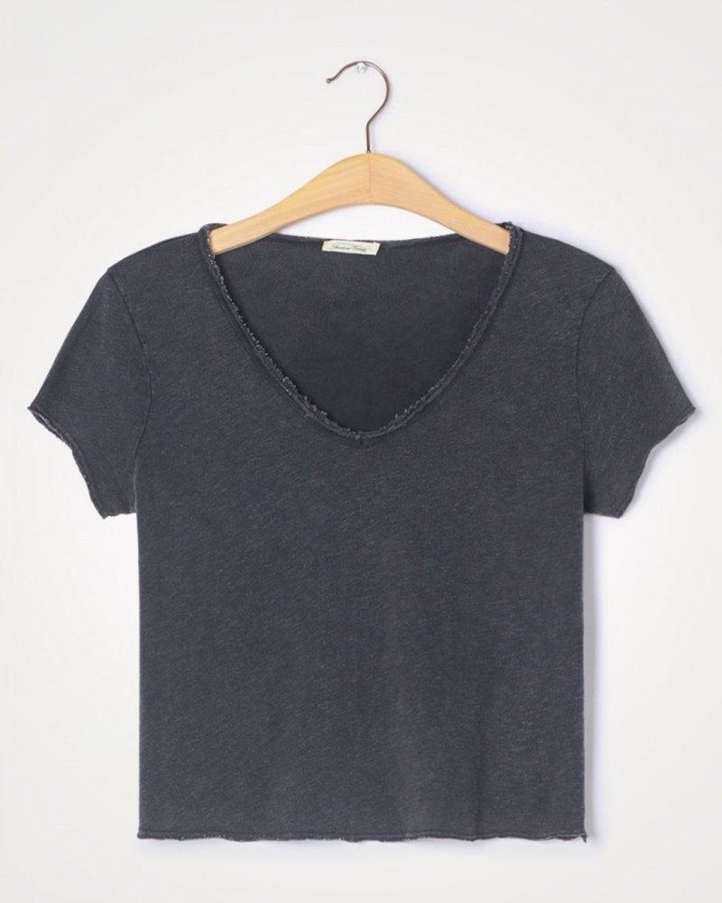 American Vintage t-shirt son col v noir