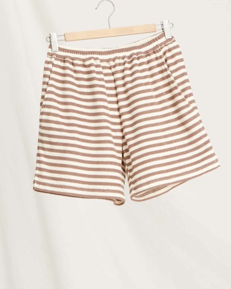 Sunday in bed terry short stripe