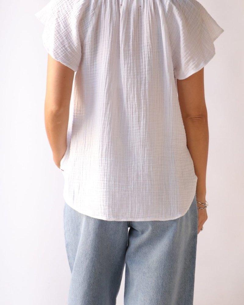 Xirena kimber top white