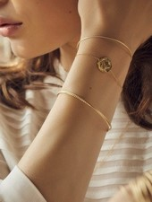 BDM Studio chloé double bangle bra gold
