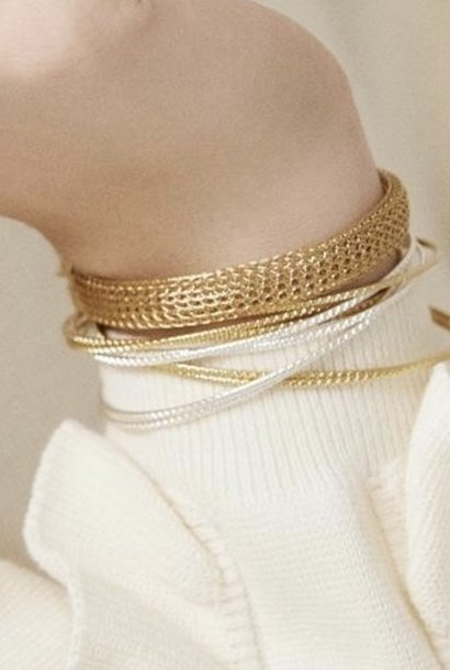 chloé double bangle bra silver