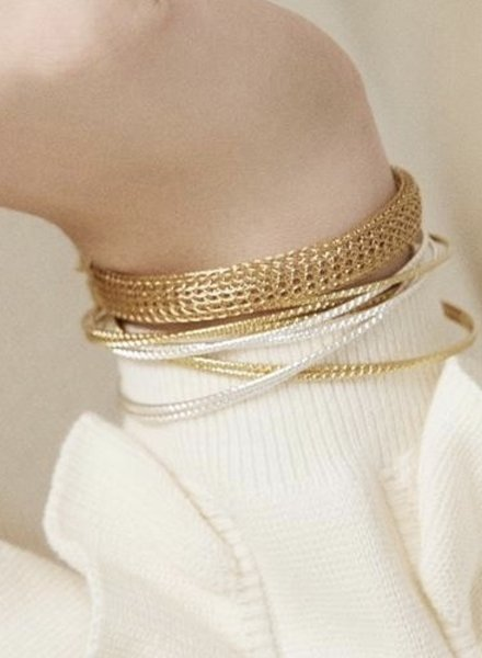 BDM Studio chloé double bangle bra silver