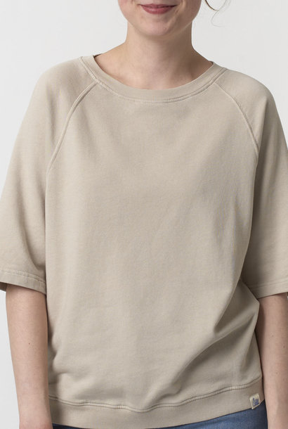 sweat short sleeves feather grey