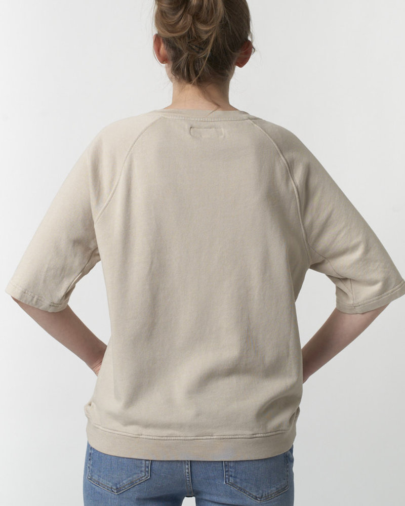 Merz b. Schwanen sweat short sleeves feather grey